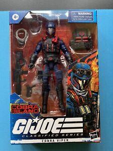 "GI Joe Classified Series Cobra Island #22 Cobra Viper 6"" inch Action Figure rare"