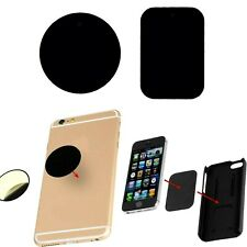 Magnetic Car Phone Holder Universa Spare Metal Plate Disc Phone plates set x2