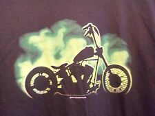 BOBBER Motorcycle Alone black graphic 2XL t shirt
