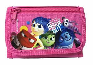 Inside Out wallet Pink Children Boys Girls Wallet Kids Cartoon Coin Purse