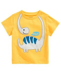 First Impressions Baby Boys Dino RAWR! T-Shirt, Golden Yellow, 12 Months