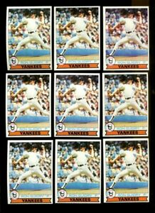 1979 TOPPS #500 RON GUIDRY LOT OF 13 NMMT B263078
