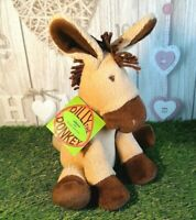 """Vtg St. Michael @ M&S Dilly The Donkey Soft Plush Acrylic Toy w Tag ~ 10"""" Tall"""