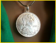 Münzanhänger, Silber 800.  Maria Theresia, 1967. auf Edelstahlronde