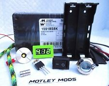 Unregulated,Box Mod Kit DiY,1591B*510 Connector,Mosfet*voltmeter*Motley Mods