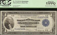 LARGE 1918 $1 DOLLAR GREEN EAGLE BANK NOTE NATIONAL CURRENCY Fr 715 PCGS 53 PPQ