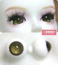 14mm  For BJD DOD AOD MK OK RD Doll Dollfie Glass Eyes Outfit light brown 14