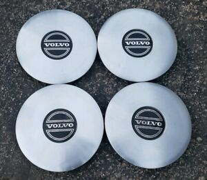 "Set of 4 OEM 1985-1986 Volvo 740 14x5"" Alloy Wheel Center Caps Hubcaps 1329915"