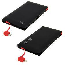Batería de emergencia Moxie 8000mAh 2 puertos USB para smartphone y tablet