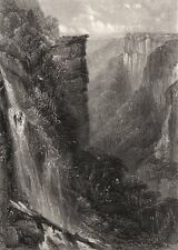 """Fall of The Weatherboard"", by BOOTH/PROUT. Blue Mountains, NSW, Australia c1874"