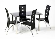 Stainless Steel Dining Room Modern Table & Chair Sets