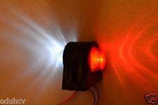 2x INDICATORE LATERALE ESTERNO LED LAMPADE LUCI BIANCO ROSSO 12 24 VOLT