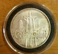 Poland.1990.100000 Zlotych.Solidarity 1980-1990.Silver.