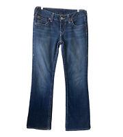 True Religion Women's Size 30 Becky Bootcut Flap Pockets Jeans Blue Whiskering
