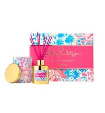 Lilly Pulitzer Tiki Pink Gypsea Candle & Diffuser Gift Set