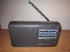 SONY ICF-36 PORTABLE RADIO Weather TV FM AM Band Radio - Tested Black WORKING