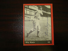 1977 TCMA Signed Billy Myers Vintage AUTO Cincinnati Reds FREE SHIPPING