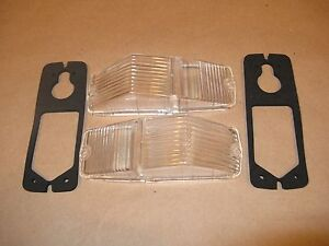 "MGB or Triumph ""new""  Clear FLASHER/MARKER LAMP LENS & Gasket Set"