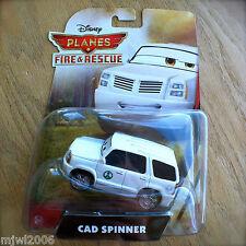 Disney Planes FIRE & RESCUE CAD SPINNER diecast Park Superintendent INTL CARD 2