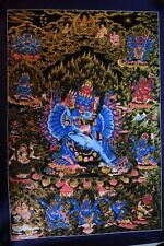 "Unique Lord Yamantaka with Power 24""x 16.2"" Thangka Hand Painting Natural Color"