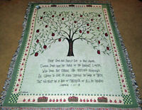 Apple Tree Tapestry Afghan Throw w/Verse ~ Artist, Cindy Shamp