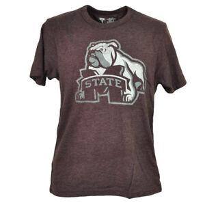 NCAA Mississippi State Bulldogs Burgundy Tshirt Tee Mens Adult Short Sleeve Spor