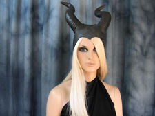 HÖRNER HAUBE SUCCUBUS (L) Latex Horn Hexe Pagan Wicca Maleficent Satyr WoW Maske