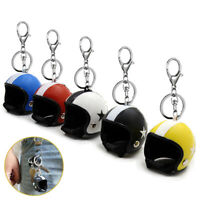 Creative Motorcycle Bicycle Helmet Key Chain Keyring Pendant Women Men Key Ring