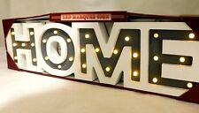Mark Feldstein Wooden  HOME Marquee LED Sign Lights Timer Plaque
