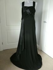 EVENING/NEW YEAR FULL LENGTH/LONG STUNNING BLACK DRESS SIZE 14 FROM MONSOON