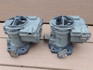 Vintage GM Tri Power Carburetors Outer Carbs Pontiac Olds 3x2 Intake Tripower NR