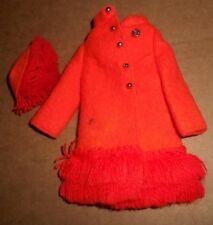 Barbie .Vintage, Mod Fashion Coat & Hat Set.Fiery Felt #1789
