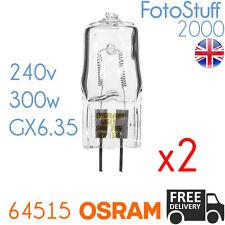 2X 64515 240v 300w GX6.35 Genuine Osram P1/23 | Disco / Stage / Studio Bulb