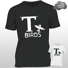 T Birds T-Shirt Grease Black Jacket T-Bird John Travolta Transfer Stag Night Men