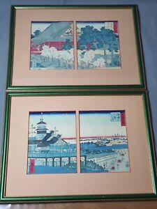 A PAIR OF JAPANESE WOODBLOCK PRINTS  - LANDSCAPE VIEWS - POSS HIROSHIGE