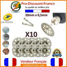 Lot de 10 Mini Disque Diamant 20mm Pour Dremel Lame Rotative Perceuse 20mm