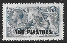 British Levant 1921 180pi. on 10/- Dull Grey-Blue SG 50 (Fine Used)