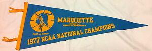 Marquette Warriors 1977 NCAA Basketball Pennant Al McGuire