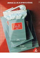 PUBLICITE ADVERTISING 054  1984  JIL   slip caleçons  J