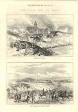 1874 Civil War In Spain Bombardment Of Bernani Catalan Divisions Vittoria