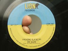 Vee Allen aka Velma Perkins Lion 45 Cheating is a No No b/w Can I VG w/sheen