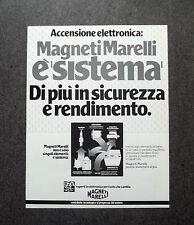 H863- Advertising Pubblicità -1982- MAGNETI MARELLI ACCENSIONE ELETTRONICA