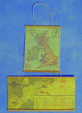 1:12 Scale 2 Hanging Maps Nursery Study Wall Decor Tumdee Dolls House Accessory