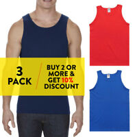 3 PACK AAA 1307 ALSTYLE MENS TANK TOP PLAIN SLEEVELESS T SHIRT MUSCLE SHIRTS TEE
