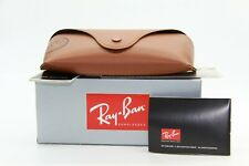 NEW RAY-BAN SUNGLASSES EYEGLASSES BOX BROWN LEATHER CASE SEALED CLOTH DOCUMENTS