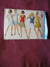 Vintage Simplicity Pattern 8188 Miss Dress 1969 Sz 16 Bust 38 Drop Waist Pleats