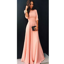 New Women Long Evening Party Ball Prom Gown Formal Bridesmaid Cocktail Dress L