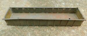"Vintage Unknown Maker Tinplate Metal/Brass O Gauge 10"" Gondola Parts/Restoration"
