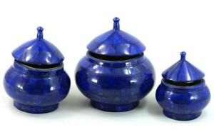 1645 gm High Quality Lapis Lazuli Jewellery Boxes Set from Badakhsan Afghanistan