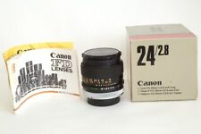 Canon FD 24mm F2.8 Obiettivo Supergrandangolare luminoso. Scatolato Immacolato